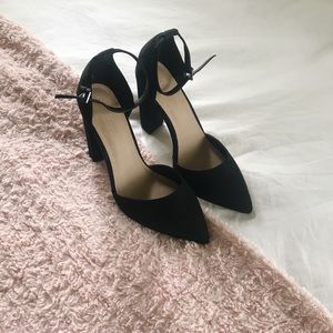 BNIB ASOS Pointed-Toe Chunky Heels w/ Ankle Strap